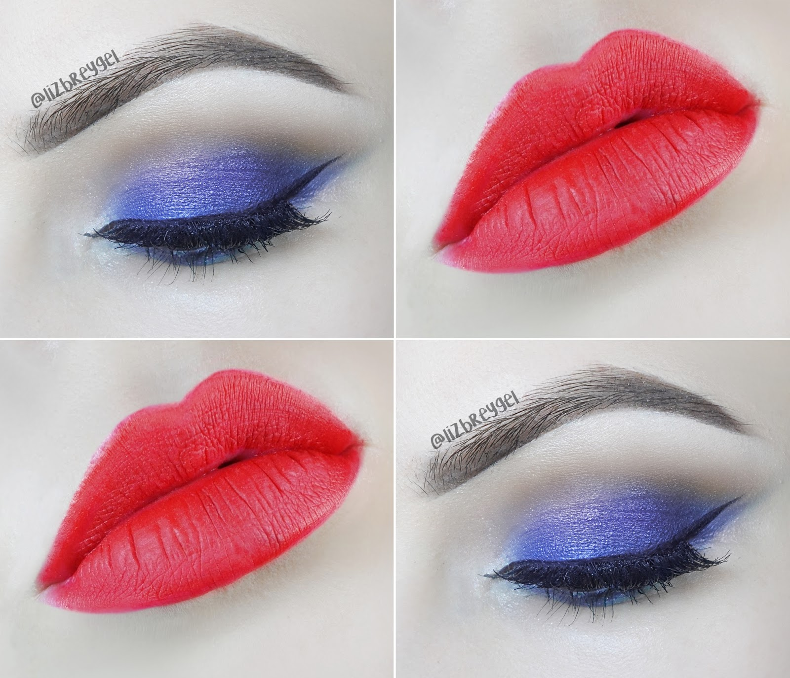 january girl blue smokey eye makeup tutorial step by step pictures red lips