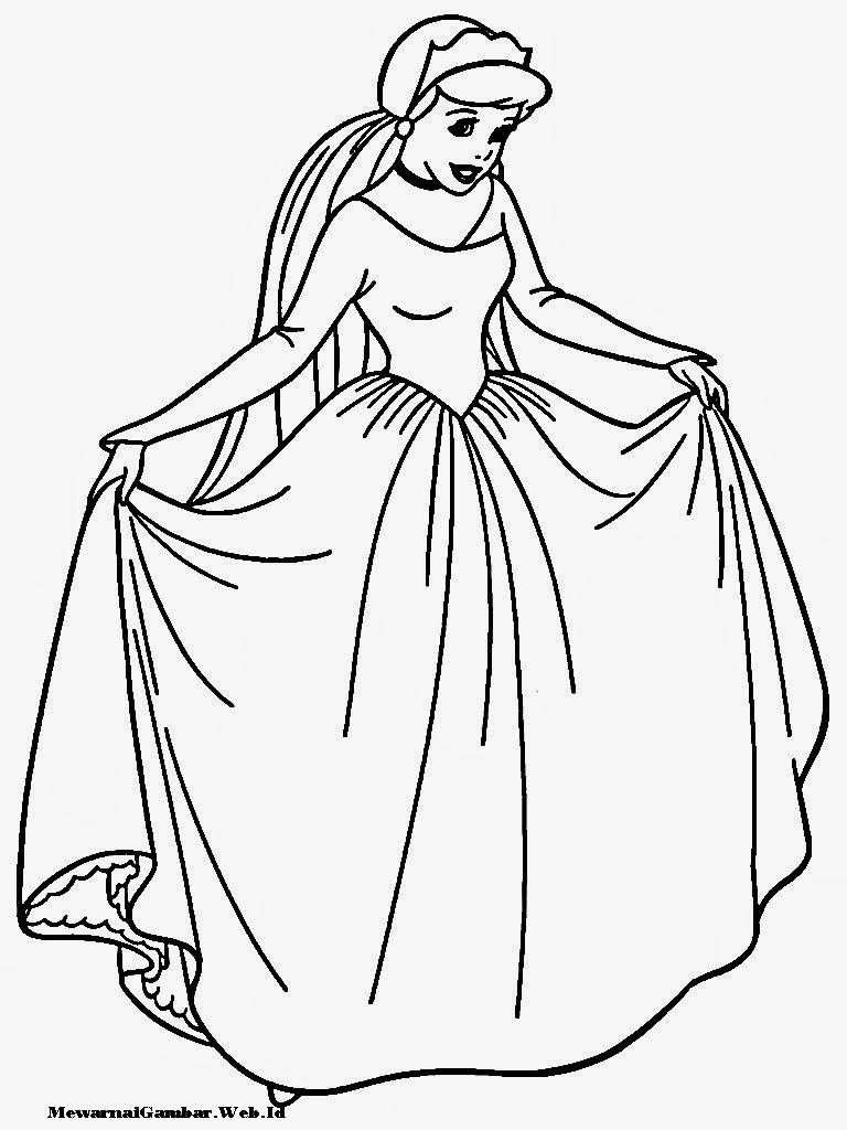Mewarnai Gambar Cinderella