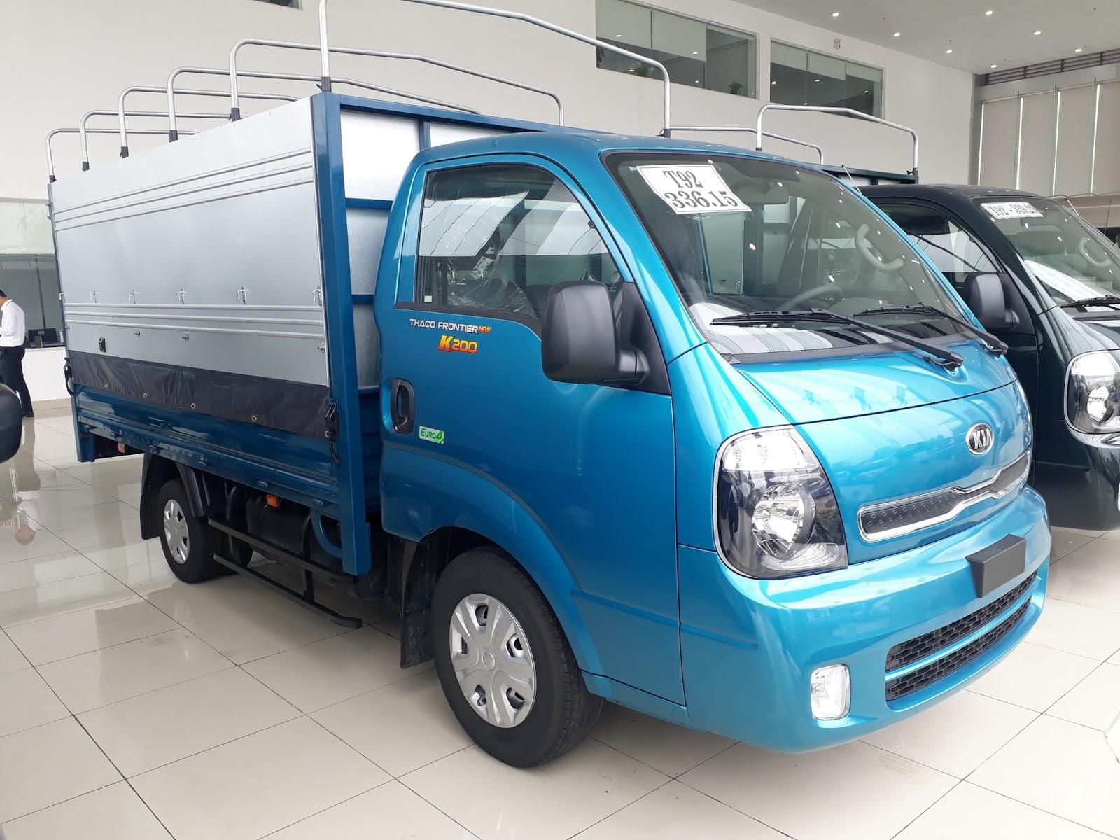 Xe tải Thaco K200 tại Hải Phòng động cơ Hyundai tiêu chuẩn Euro4