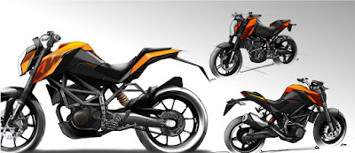 New 2016 KTM Duke 125  three looks