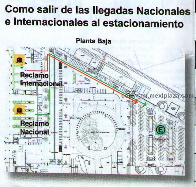 Como salir de las llegadas Nacionales e Internacionales al estacionamiento - AICM - Terminal 2