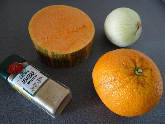 Crema de calabaza, naranja y jengibre