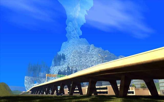 gunung meletus gta