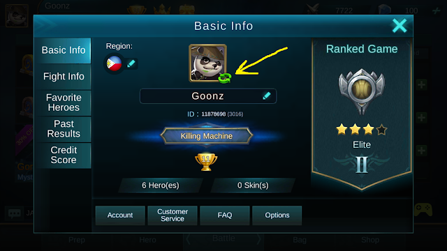 how to change pic in mobile legends