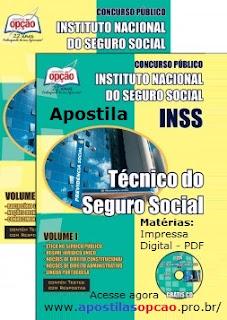 Apostila INSS Técnico e Analista - Impressa ou Digital 2015-2016.