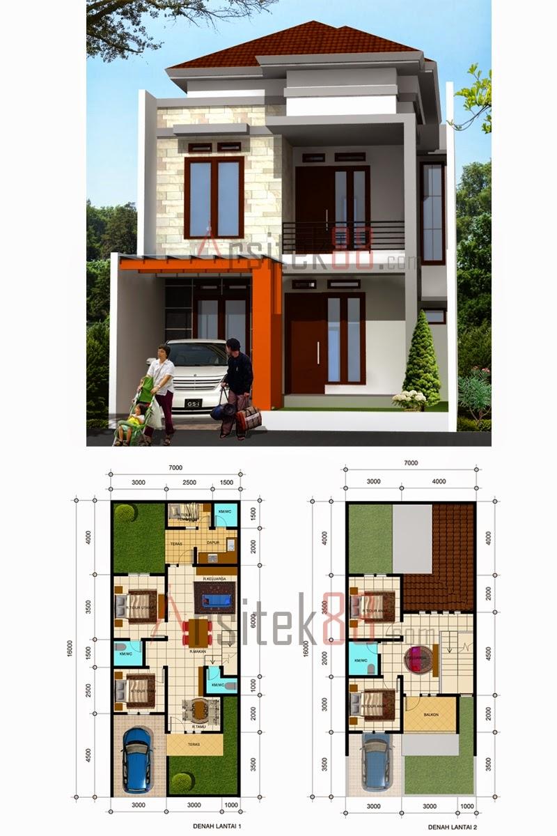 88 Desain Rumah Minimalis Modern 2 Lantai 3 Kamar Tidur Tren Rumah Minimalis