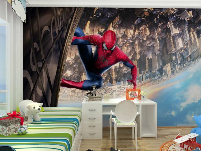 spiderman wall mural kids room boy children murals marvel wallpaper bedroom