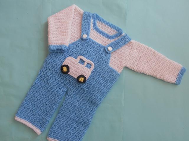 Crochet Crosia Free Patttern With Video Tutorials Boy Romper Set