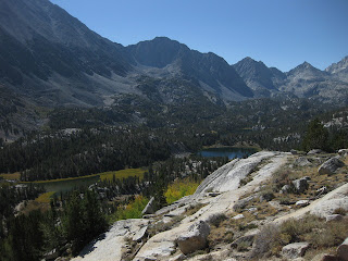 View of Mack Lake from the Mono Pass trail, John Muir Wilderness, Eastern Sierras, California