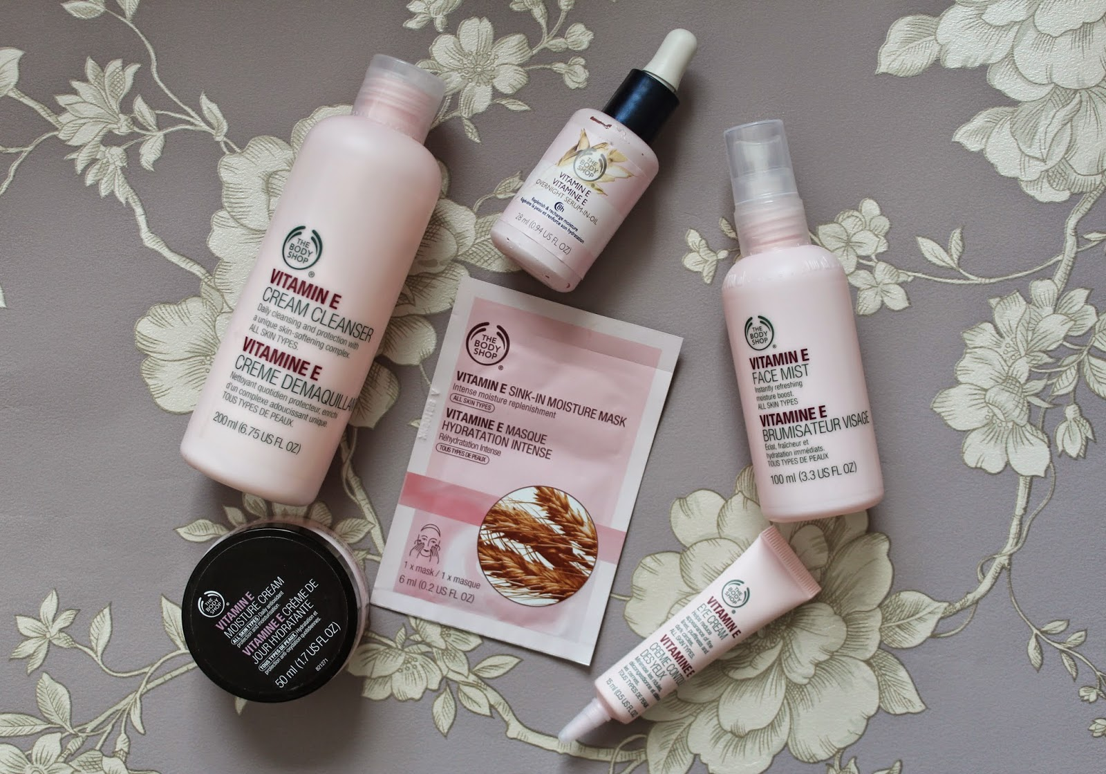the body shop vitamin e cream cleanser overnight serum in oil moisture cream moisturiser eye cream face mask face mist skincare skin beauty bloggers
