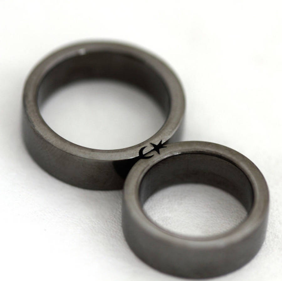 Men Black Wedding Bands