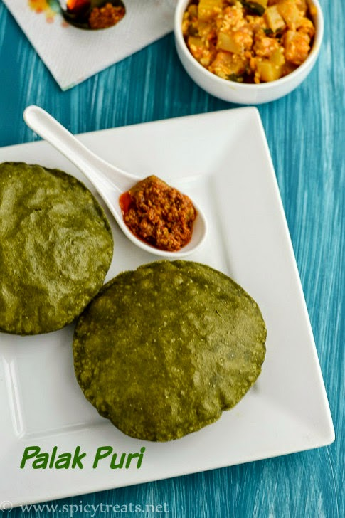 Spinach Puri