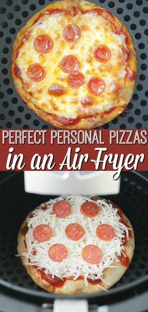 PERFECT PERSONAL PIZZAS (IN AN AIR FRYER) #Perfectfood #Pizza #Easyrecipe #Simplyrecipe #Quickpizza #Airfryerfood #Cookwithairfryer #Bestpizza