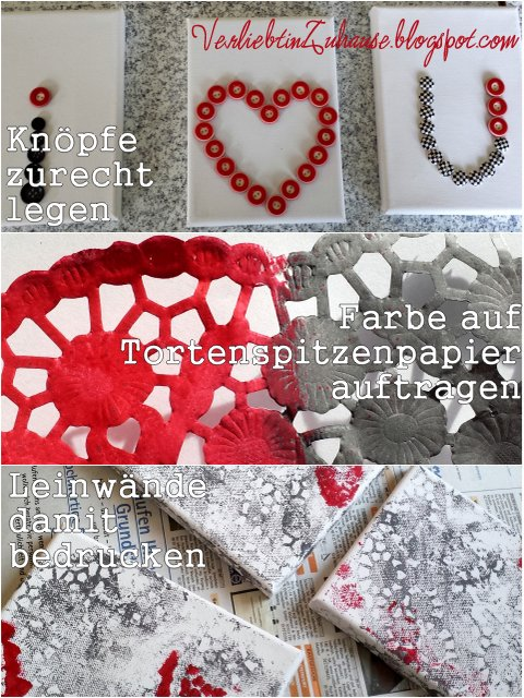 Very Simple DIY Kunst am Valentinstag How to