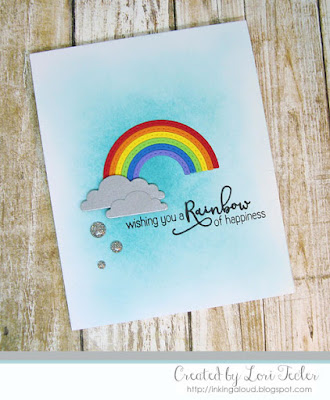 Rainbow of Happiness card-designed by Lori Tecler/Inking Aloud-stamps and dies from Reverse Confetti