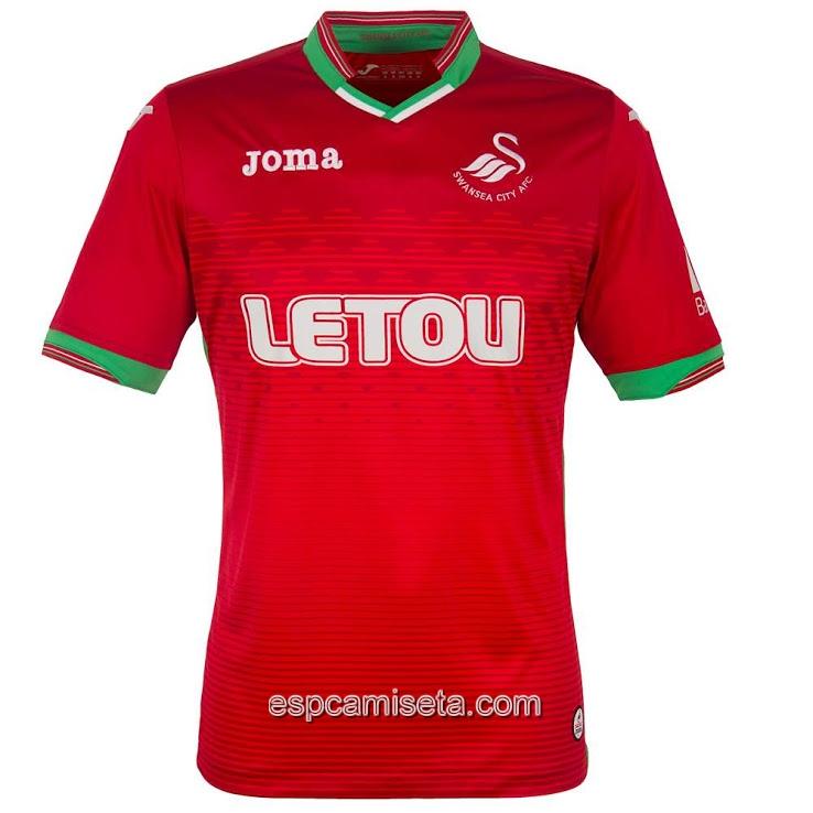 La segunda camiseta del Swansea City 2017-2018 es roja 82357b28b4eb9