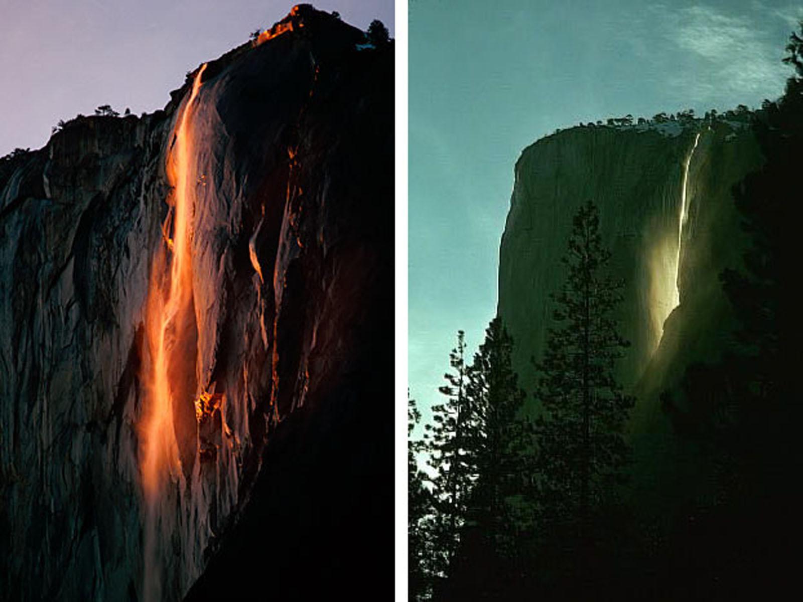 Yosemite Falls Wallpaper Horsetail Falls Yosemite National Park California 2013