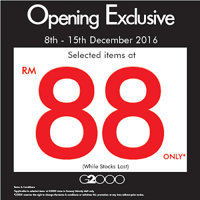G2000 Malaysia Opening Exclusive Discount Promo
