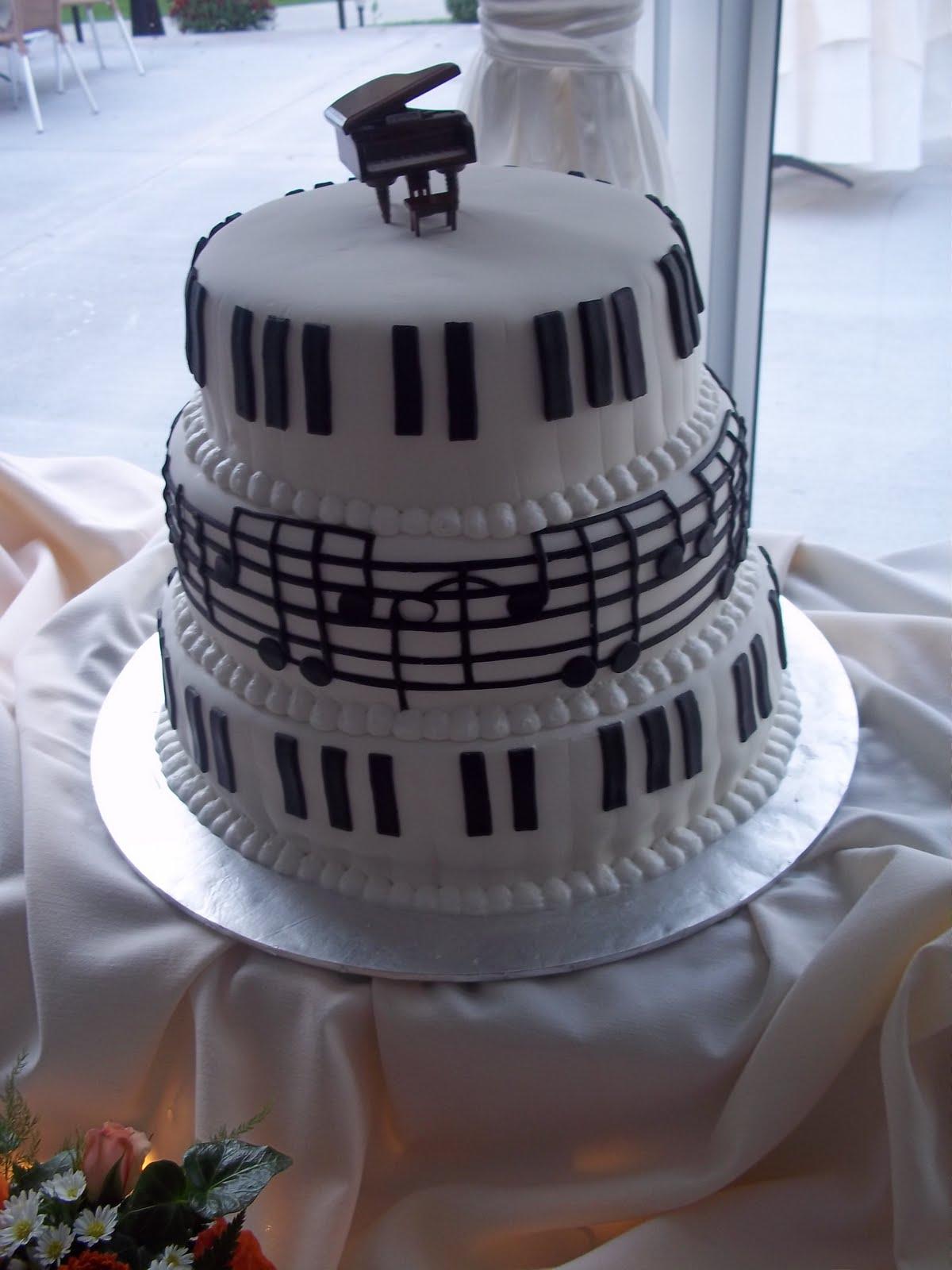 Cakes By Jenn Piano Wedding Cake