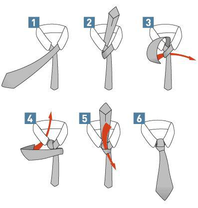 Pictorial Guide on How To Tie A Tie