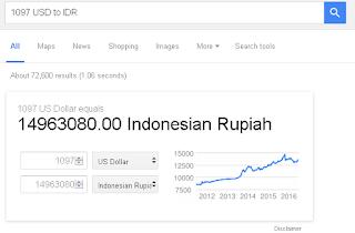 convert dari dolar ke rupiah