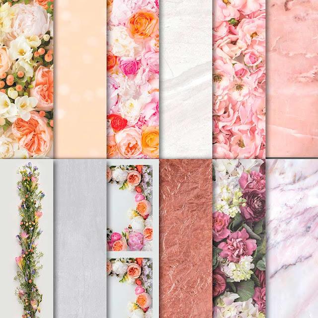 Stampin' Up! Bente Stempelt Designerpapier DSP Blütenpracht Marmor Holz Rosen Shabbx Chic Vintage Blumen Rahmen