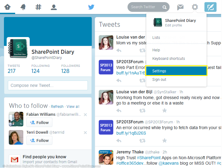 twitter feed web part sharepoint 2013