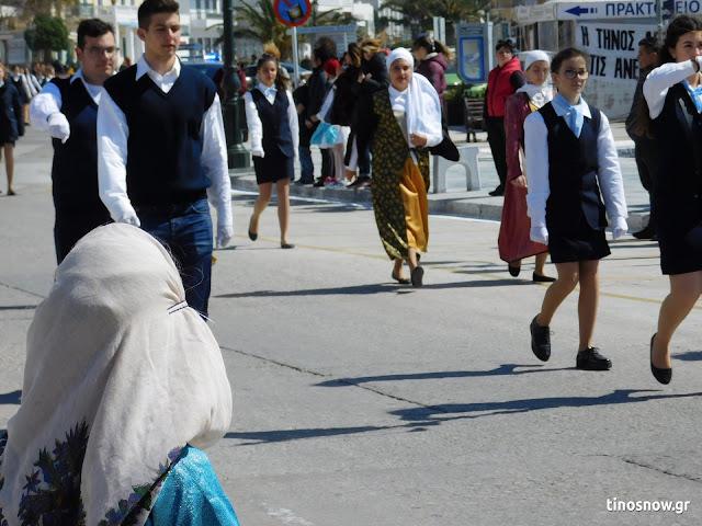 Φωτογραφικό υλικό από τη σημερινή μαθητική παρέλαση της 25ης Μαρτίου