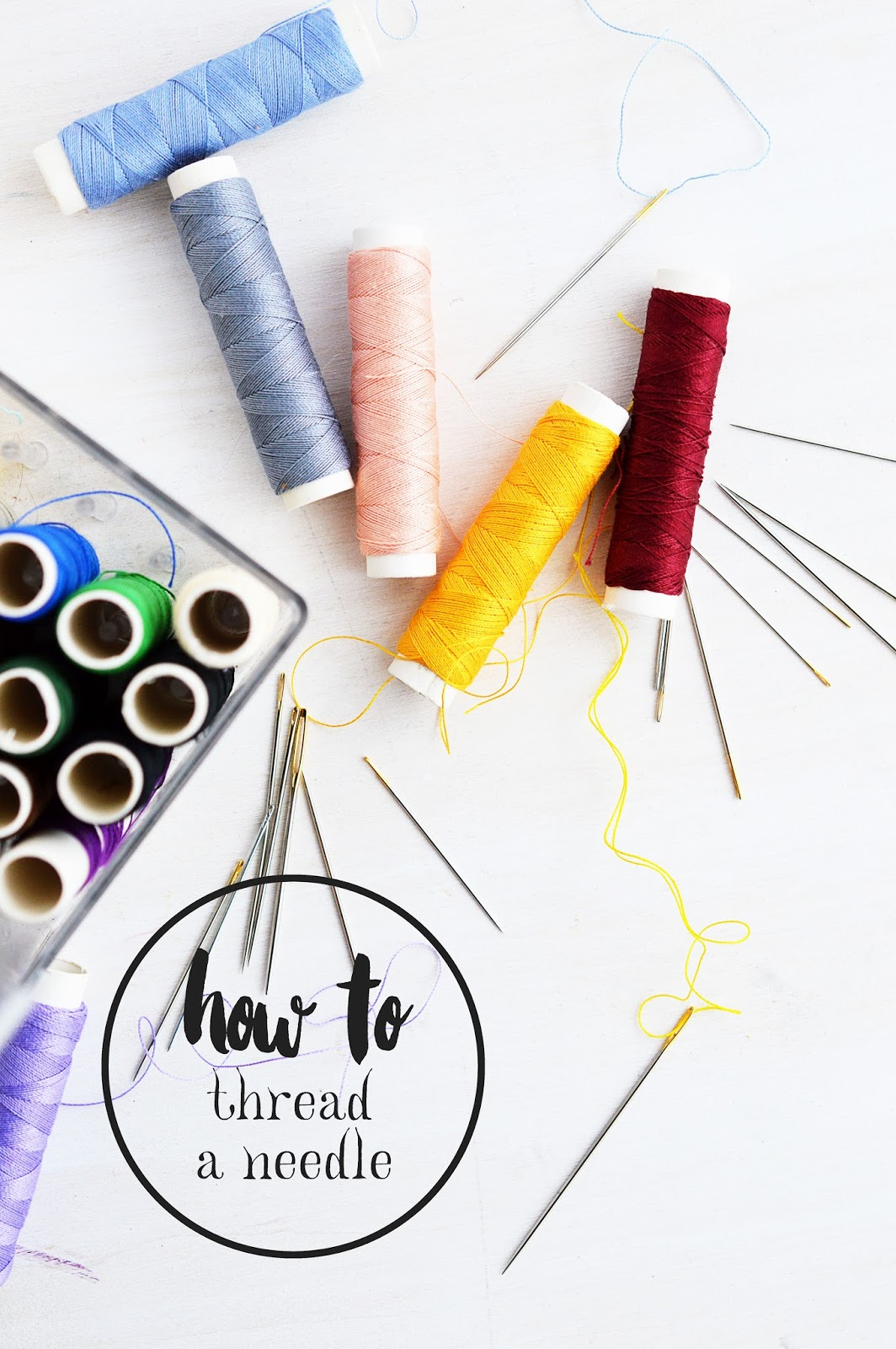 Crafter's Know-How | How to thread a sewing needle properly | 6 tips | Motte's Blog