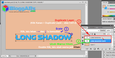 Cara Membuat Efek Long Shadow di Photoshop