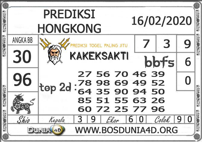 Prediksi Togel HONGKONG DUNIA4D 16 FEBRUARI 2020