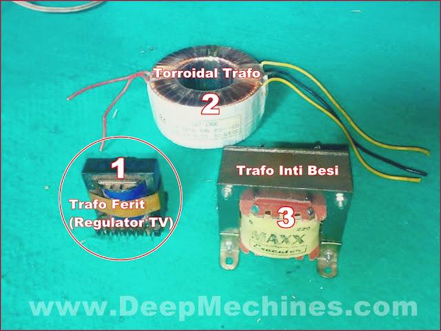 Perbedaan Jenis dan Model Trafo Power Supply Elektronika/TV
