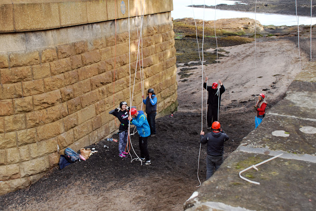 Forth Rail Bridge abseil South Queensferry beach