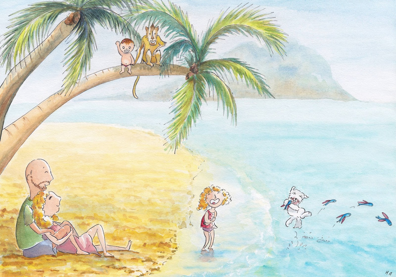 carte de voeux personnalisée customed card illustration jeunesse children newborn vacance holiday