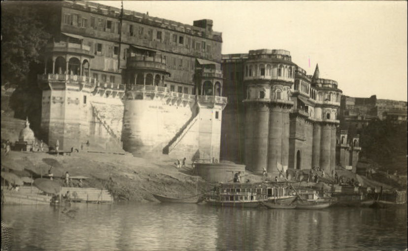 Riverside Architechture in Varanasi (Benares) - c1910
