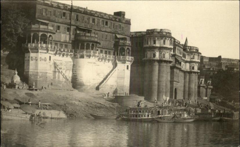 Riverside Architechture in Varanasi (Benares) - c1910