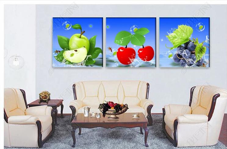 Tranh bộ treo tường trái cây phòng ăn phòng bếp đẹp