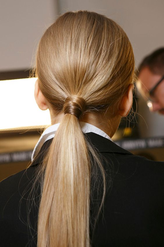 cute ponytail idea to try this fall