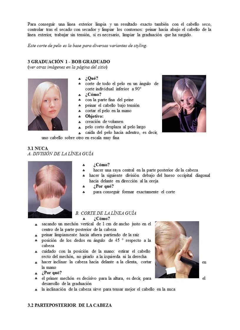 Diferentes tecnicas de corte de cabello