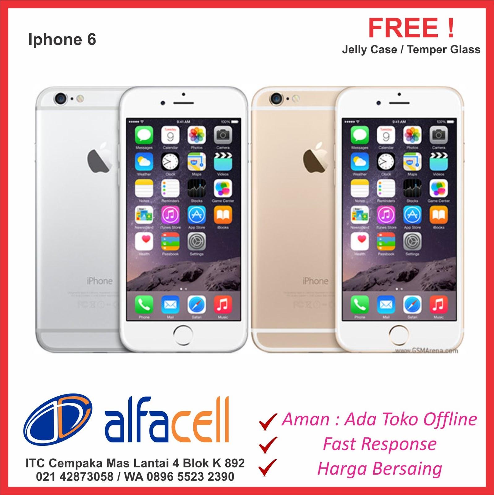 Iphone 6 dan 6 Plus Murah ITC Cempaka Mas Jakarta Bisa Kredit Tanpa Kartu Kredit Cash