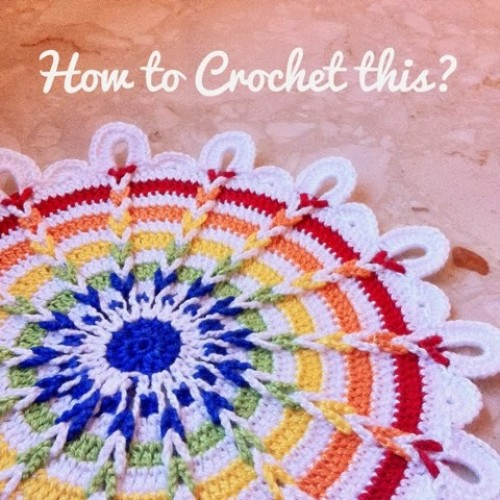 Rainbow Crochet Doily - Free Pattern