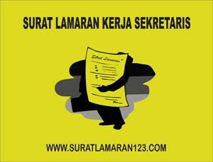 Contoh Surat Lamaran Kerja Sekretaris yang Baik dan Benar