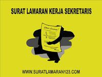 Contoh Surat Lamaran Kerja Sekretaris