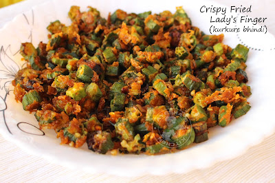 yummy crispy indian healthy recipeswith ladys finger for kids lunch box special side dish with chapati
