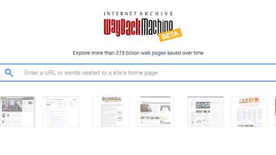 موقع يقوم بارشفة المواقع و يعيد بك  الى زمن مضى كيف  كانت اشهر المواقع  قديما و كيف  هي الان