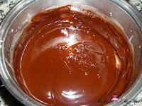 Chocolate y nata derretidos