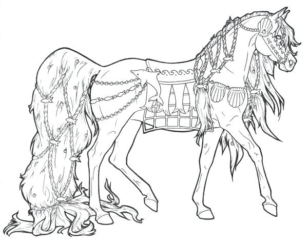 Click to see printable version of Awesome Horse Coloring page