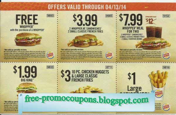 Burger king coupons 2018 uk