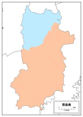 奈良県白地図