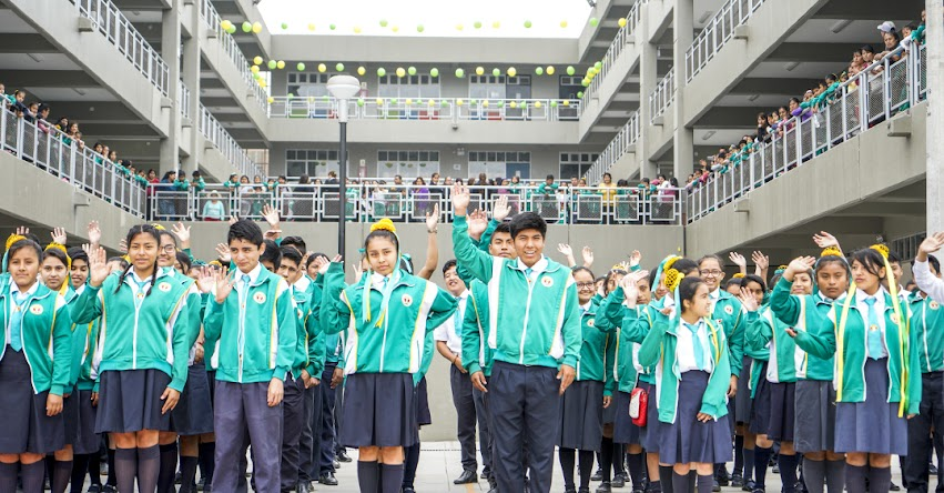 PRONIED: Más de mil alumnos de Carabayllo beneficiados con remodelado colegio Sol Naciente - www.pronied.gob.pe